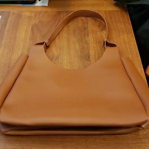 NEW, Neiman Marcus Leather Tote , BROWN